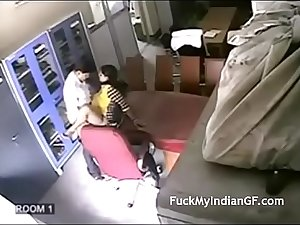 Indian School Teacher Having Sex By Her College In Store Room