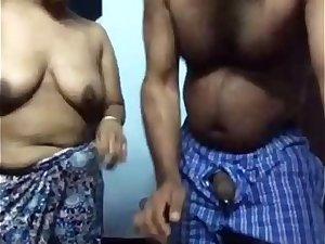 Ordinary Tamil Couple Late Night Erotic Sex In Lounge