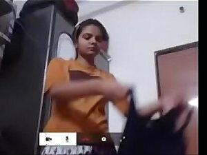 18 year old Indian girl change derss on camera